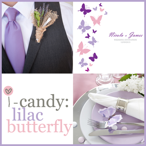 Lilac butterfly mood board