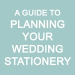 Infographic - Planning your wedding stationery