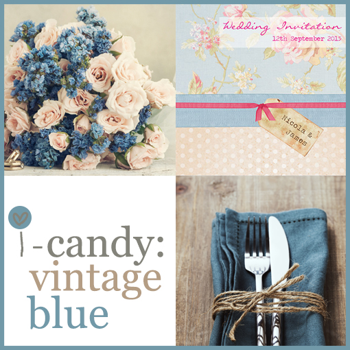 Surprise Bride S Pinterest Board Is Brought To Life: I-candy Mood Board: Vintage Blue