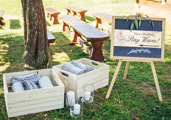 Rain Weather Spring Blankets Wedding