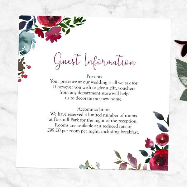 Ceremony And Reception Gap: 7 Things To Put On Your Wedding Guest Information Cards