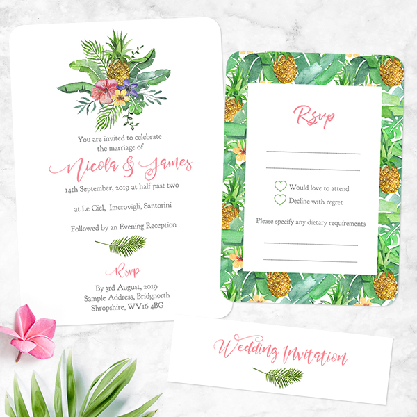 Top Tips for a Tropical Beach Wedding - Hawaiian Flowers & Pineapple