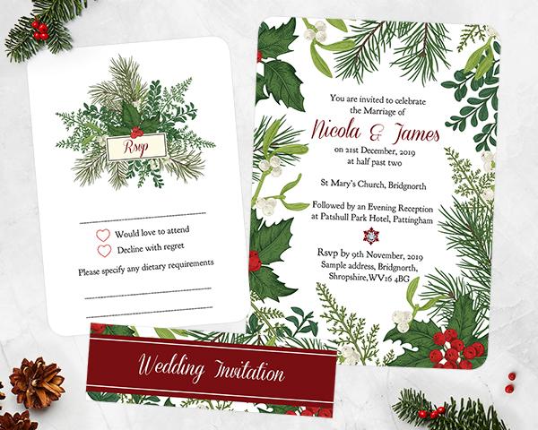Christmas Wedding - Festive Winter Woodland