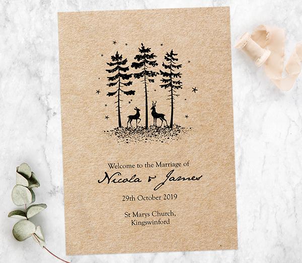 Christmas Wedding - Rustic Winter Woodland