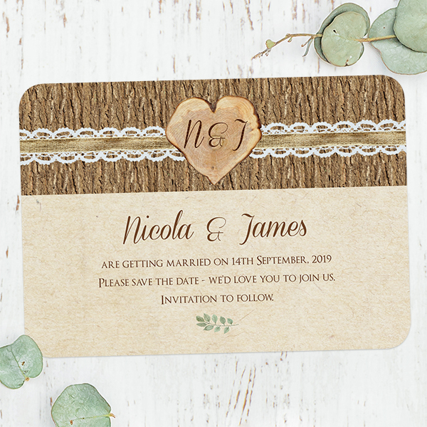 Woodland Wedding - Forest Love Save the Date