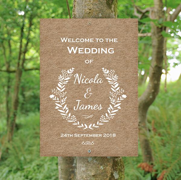 Woodland Wedding - Rustic Flower Border