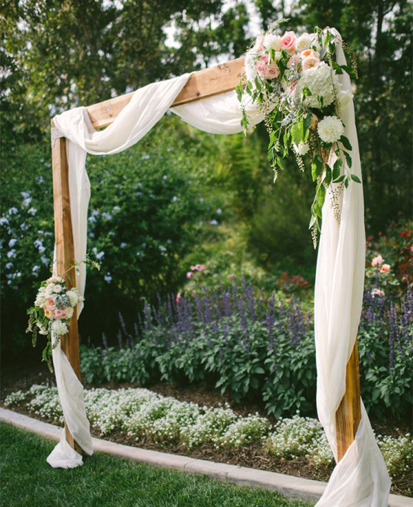 Spring Wedding Reception - Arch by Vis Photography