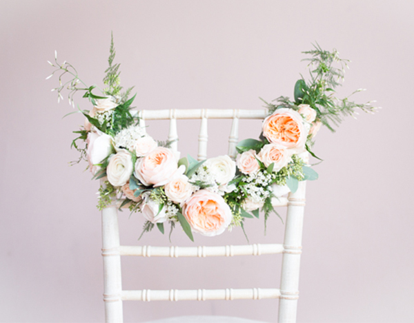 Spring Wedding Reception Chair by Little Wedding Helper Bridal Musings Becky Male Photography