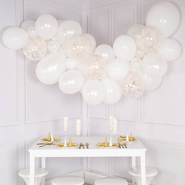Engagement Party Planning Tips and Ideas - Elegance Balloon Cloud Kit - Bubblegum Balloons