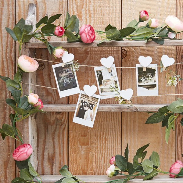 Engagement Party Planning Tips and Ideas - Pink Rose Flower Garland - Ginger Ray
