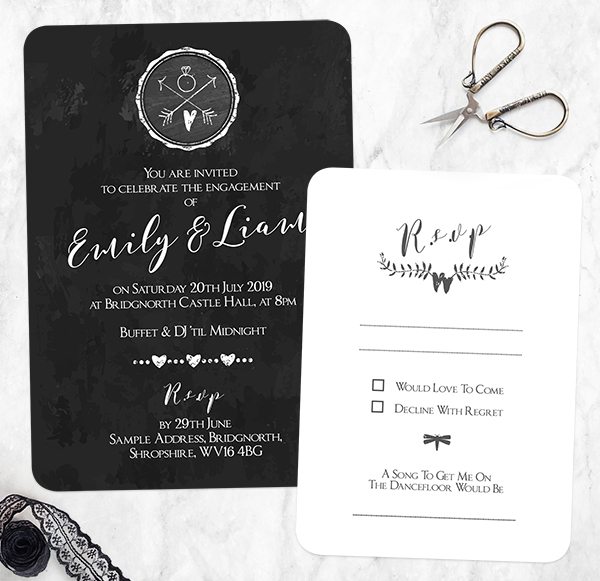 Engagement Party Planning Tips and Ideas - Vintage Chalkboard