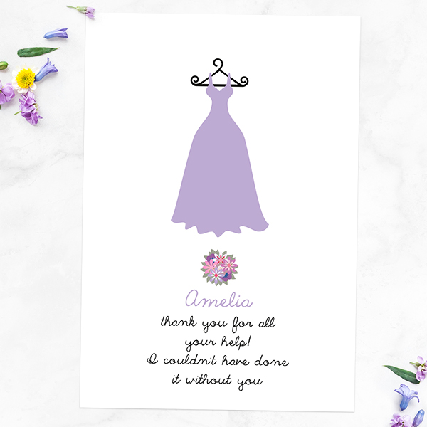 Get Your Best Friends Involved in Your Wedding - Thank You For Being My Bridesmaid - Dress & Bouquet