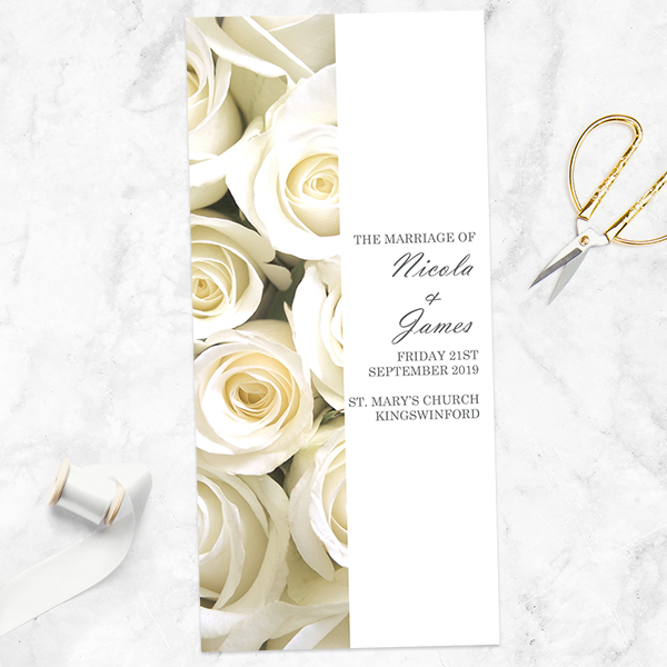 A Guide to Wedding Stationery Accessories - English Roses Order Of Service Concertina
