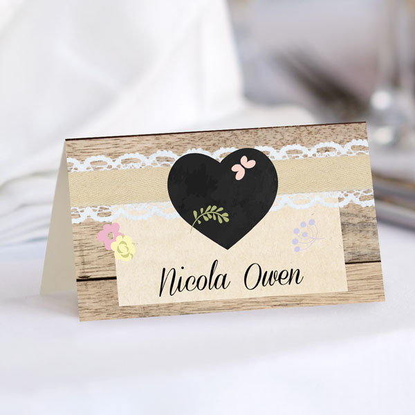 A Guide to Wedding Stationery Accessories - Place Card Menu