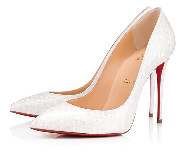 'Something New' Wedding Ideas - Christian Louboutin Pigalle Follies Patent Coquillage