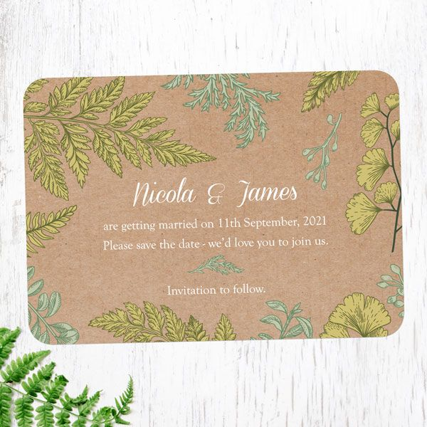 Save the Date Cards - Tree of Hearts - Woodland