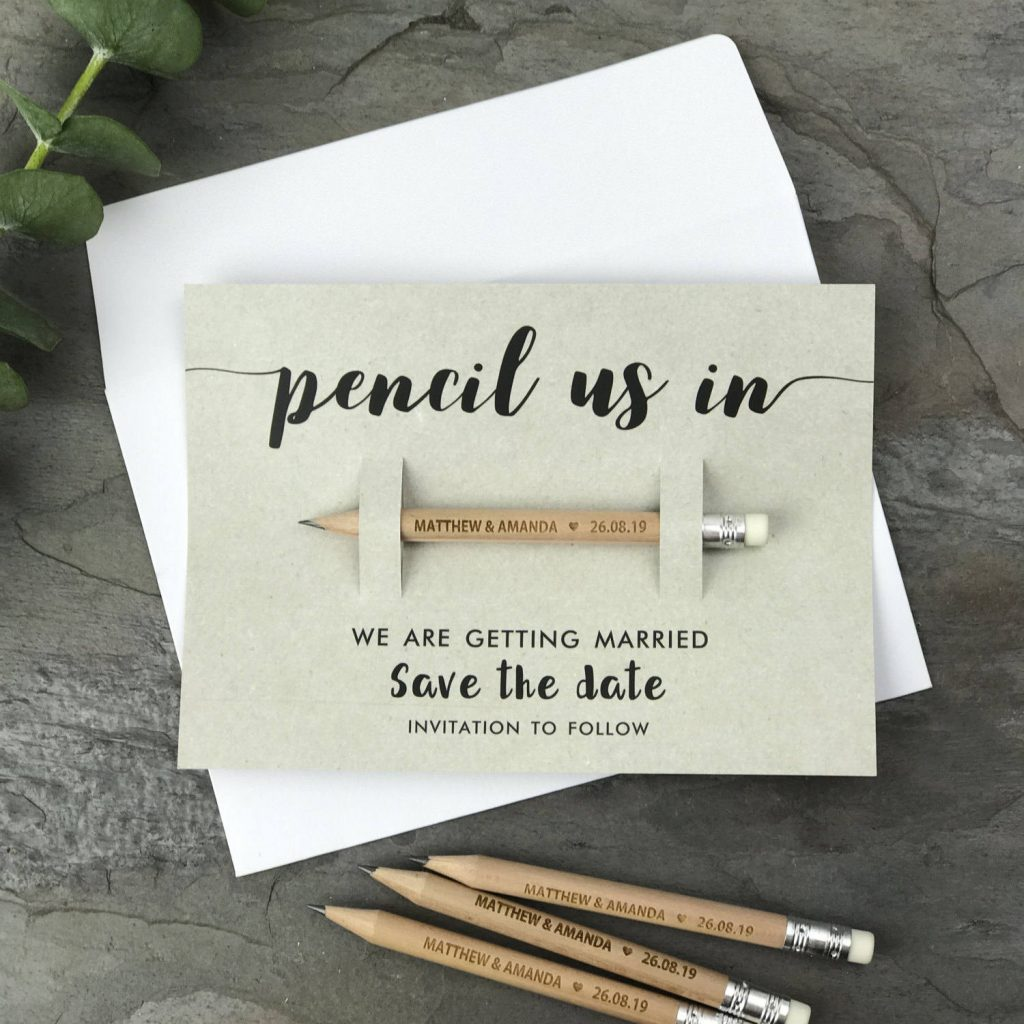 Save the Date Ideas - Etsy - Pencil