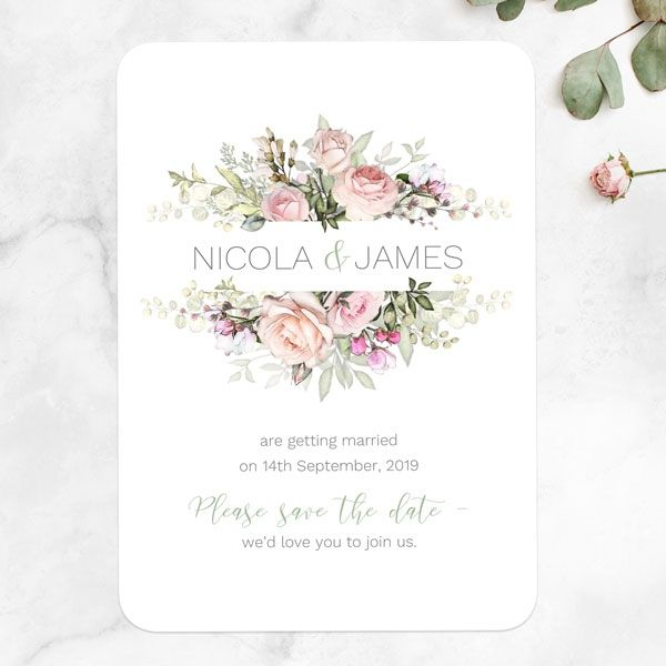 Save the Date Cards - Tree of Hearts - Nature