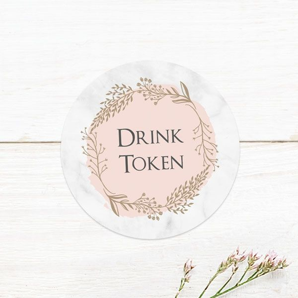 Drink Token - Wedding Stationery You Didn't Know You Needed!