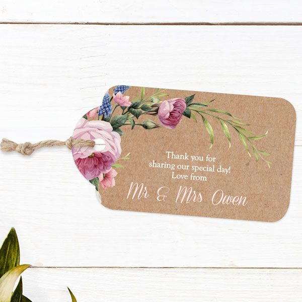 Favour Tag - Wedding Stationery You Didn't Know You Needed!