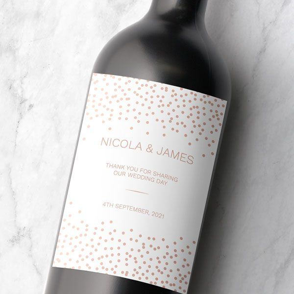 Wine Bottle Label - Wedding Stationery You Didn't Know You Needed!