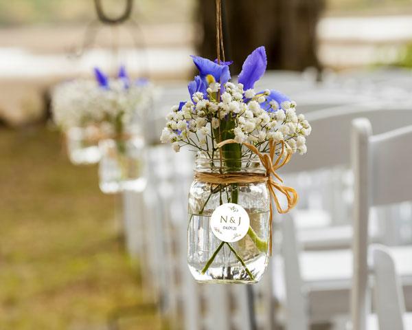 Ways to Use Wedding Stickers - Mason Jars