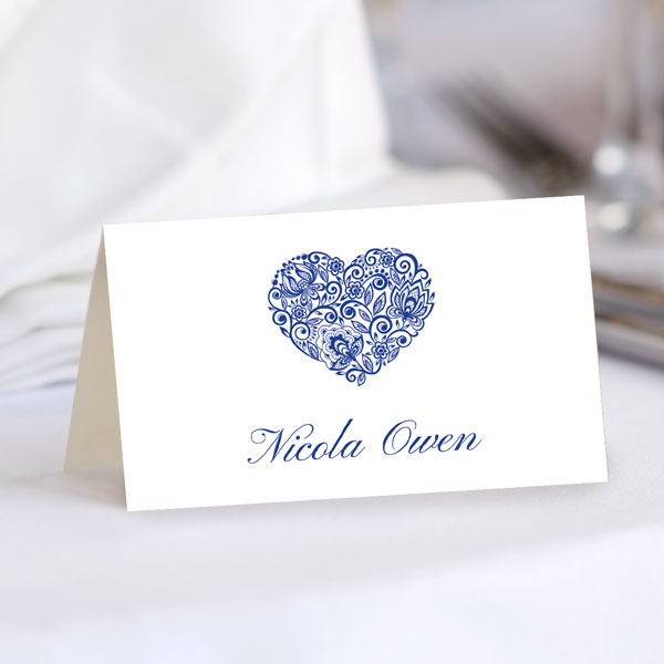 Autumn/Winter Wedding Stationery Trends - Lace Love Heart Place Card