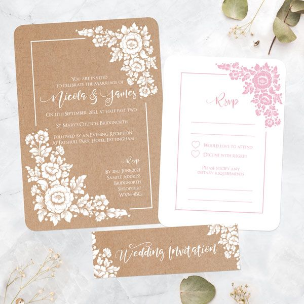 How much do you spend on wedding invitations? - Rustic Flower Bouquet - Boutique Wedding Invitation & RSVP