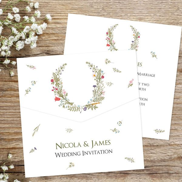 Can You Send Wedding Invitations Too Early? - Botanical Garden - Pocketfold Wedding Invitation & RSVP
