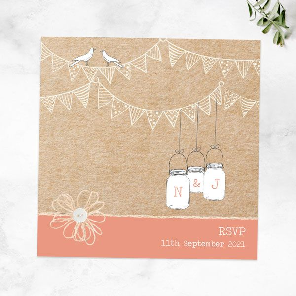 How Do You Refuse an Invitation Gracefully? - Vintage Bunting & Love Birds RSVP Cards