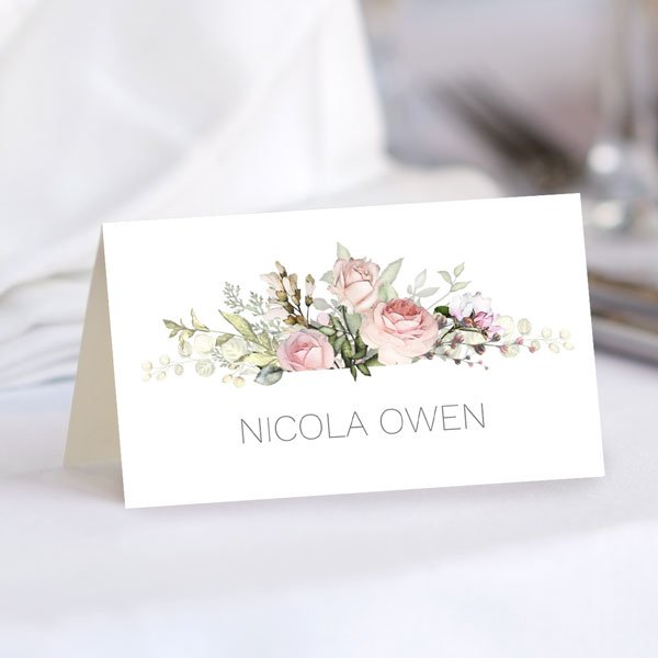 How Do You Make a Wedding Seating Card? - Pink Country Flowers Place Card