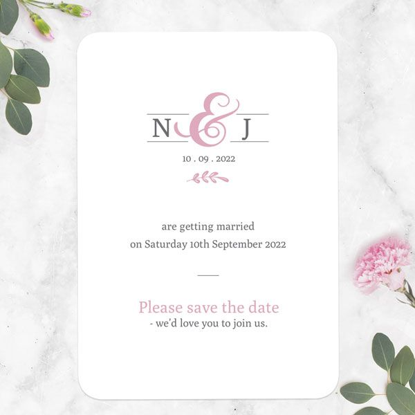 What's the Difference between a Save the Date Card and an Invitation? - Formal Monogram Save the Date Cards