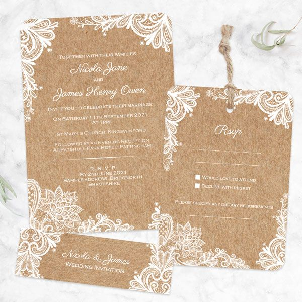 What's the Difference between a Save the Date Card and an Invitation? - Rustic Wedding Lace - Boutique Wedding Invitation & RSVP