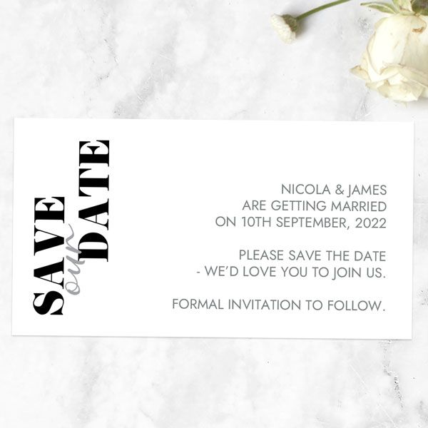 What's the Difference between a Save the Date Card and an Invitation? - Minimalist Typography Save the Date Magnets
