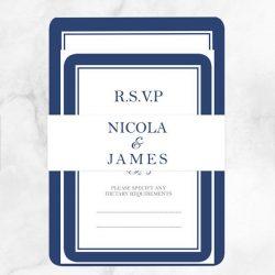 Invitations for a Blue Wedding Colour Scheme