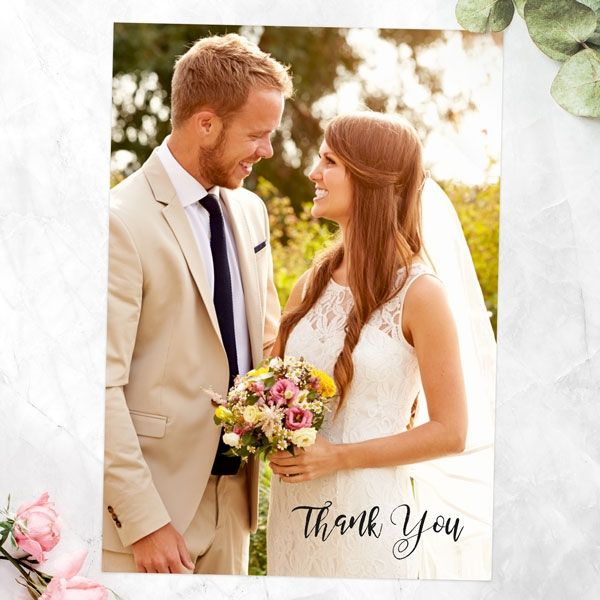 Do You Send a Wedding Thank You Note to Parents? - Add Your Own Photo - A6 Portrait Thank You Cards