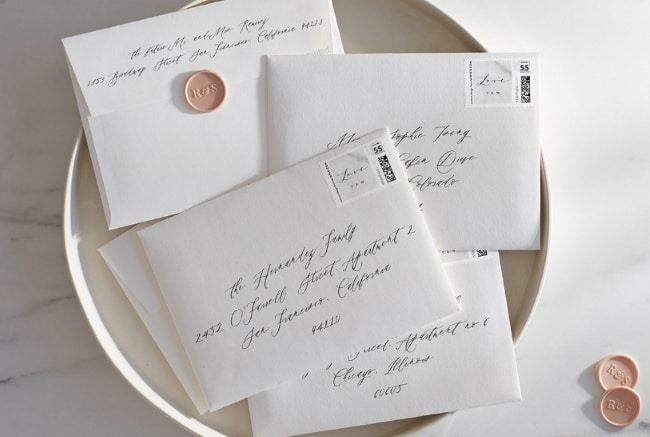 Should You Hand Address Wedding Invitations? - Minted