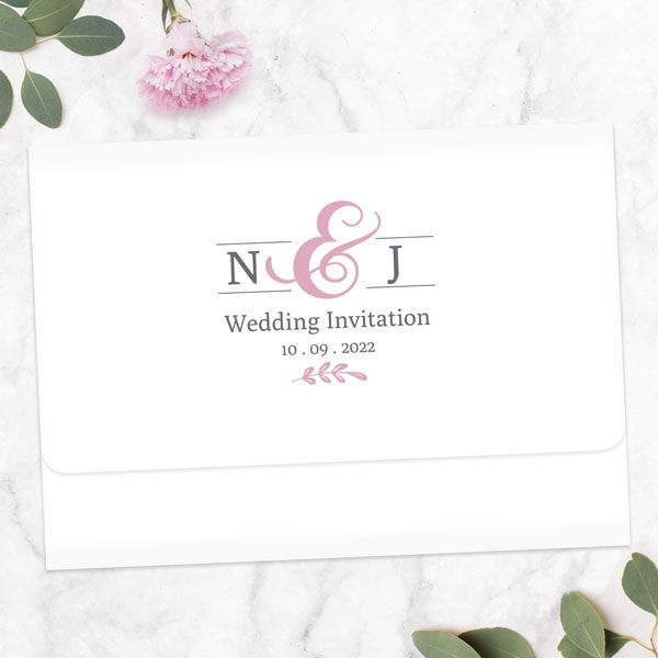 Is It Rude to Not Give a Plus One for a Wedding? - Formal Monogram - Tri Fold Wedding Invitation & RSVP