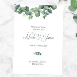 How Do You List a Wedding Party in a Program?