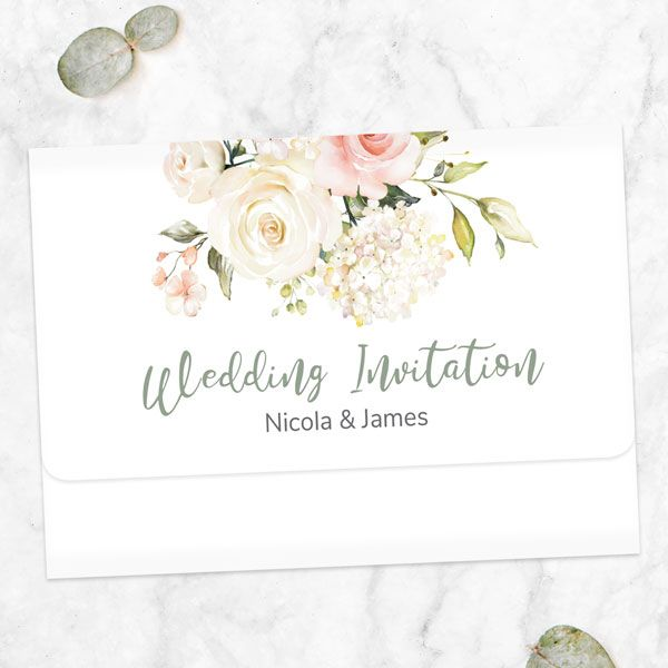 How Many People Usually RSVP No to a Wedding? - Pink & White Country Bouquet - Tri Fold Wedding Invitation & RSVP