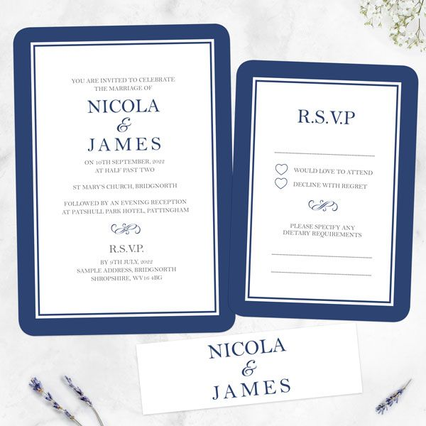 How Do You Tell People They Aren't Invited to Your Wedding? - Royal Border - Boutique Wedding Invitation & RSVP