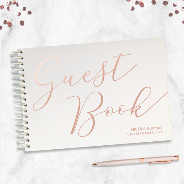 Typographic Rose Foil - Guest-Book