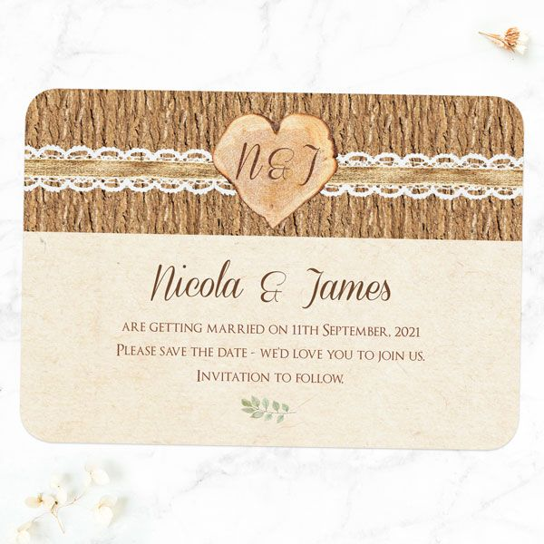 How to Tell Guests You're Postponing Your Wedding - Forest Love Change the Date Cards