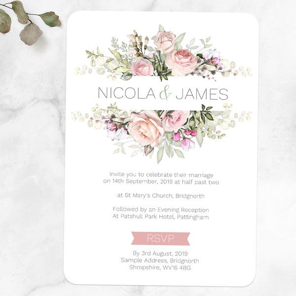 Why Should I Order Wedding Invitation Samples? - Pink Country Flowers Sample