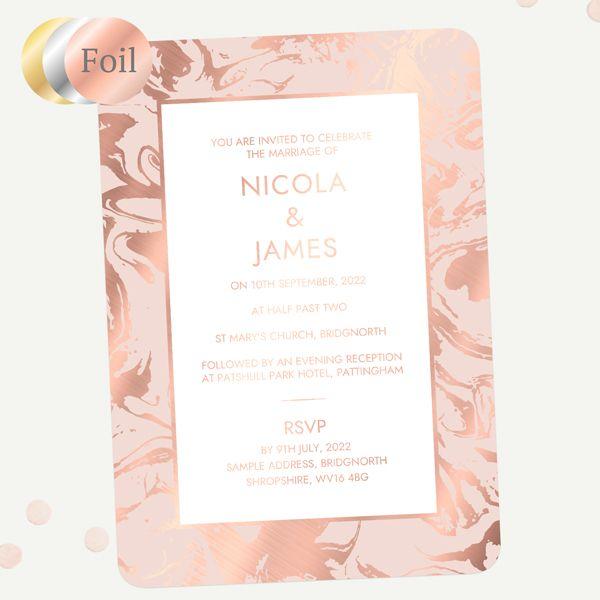 Why Should I Order Wedding Invitation Samples? - Marble Dream Foil Sample